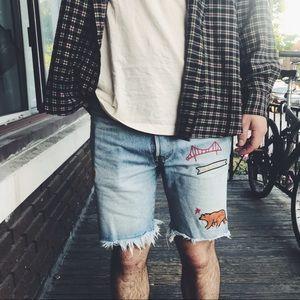 Levi's Californian Staple Fringed Jean Shorts